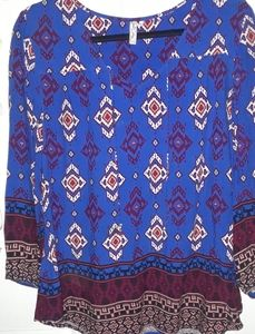 Red Camel patterned top (L)